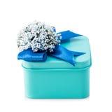 Свет - голубая подарочная коробка стоковое фото