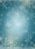 Свет - голубая предпосылка бумаги зимнего отдыха Стоковые Изображения