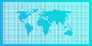 Свет - голубая предпосылка карты мира Стоковое фото RF