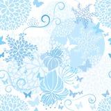 Свет - голубая флористическая безшовная картина иллюстрация вектора