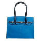 Свет - голубое женское портмоне изолированное на белизне Стоковое Изображение