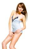 свет девушки красивейших одежд модный Стоковые Фото