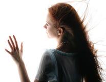 свет девушки Стоковое Изображение RF