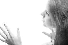 свет девушки Стоковые Изображения RF