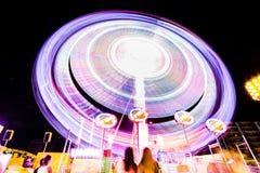 Свет долгой выдержки на парке потехи Стоковое Фото