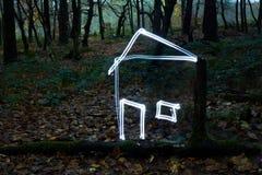 свет дома пущи Стоковое Изображение