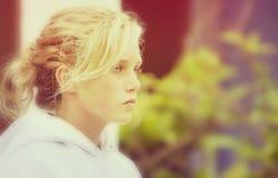 Свет лета девочка-подростка мягкий Стоковые Изображения RF