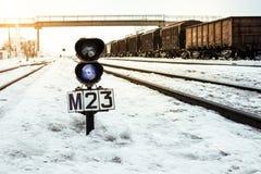 Свет железнодорожного движения Стоковая Фотография