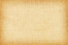 Свет - желтая естественная linen текстура для предпосылки Стоковая Фотография
