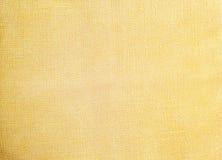 Свет - желтая естественная linen текстура для предпосылки Стоковая Фотография RF