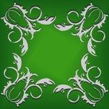 Свет завивает на зеленой предпосылке Стоковое Изображение RF