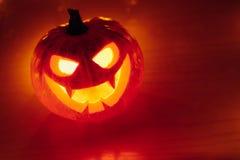 свет зарева тыквы Джек-o-фонарика, предпосылка хеллоуина Стоковые Изображения RF