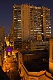 Свет захода солнца в Монтевидео с большой перспективой к горизонту стоковое фото rf