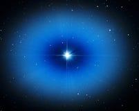 Свет звезды Vega в ночном небе Стоковые Изображения