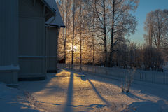 Свет зимы Стоковые Фотографии RF