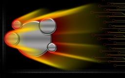 свет излучения предпосылки цифровой Стоковая Фотография RF