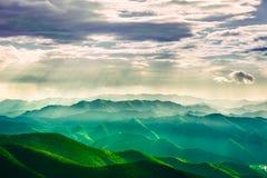 Свет Иисуса в горах стоковые фотографии rf