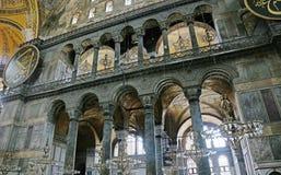 Свет интерьера Hagia Софии Стоковые Изображения RF