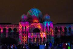 Свет и движение фестиваля в Путраджайя, Малайзии стоковая фотография rf