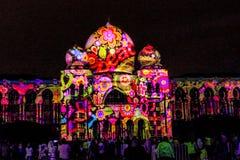 Свет и движение фестиваля в Путраджайя, Малайзии стоковые фотографии rf