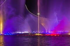 Свет и музыка fountan в олимпийском парке Стоковые Фото