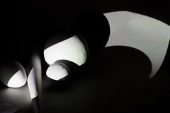 Свет и тени на составе геометрических форм 3d Стоковое Изображение RF