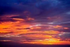 Свет и цвета Twilight неба Стоковое Изображение RF