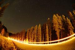 Свет и starlight ночи Стоковые Фото