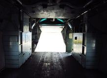 Свет конца двери самолета Стоковая Фотография