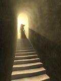 свет к тоннелю иллюстрация вектора