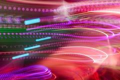 Свет клуба Defocus расплывчатые света стоковая фотография