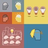 Свет мозга и шарика Стоковые Изображения RF