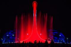 Свет-музыкальное представление фонтана Стоковое фото RF
