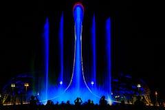 Свет-музыкальное представление фонтана Стоковые Фото