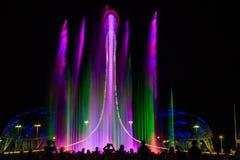 Свет-музыкальное представление фонтана Стоковое Изображение