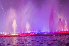 Свет-музыка fountan в олимпийском парке Стоковое Изображение RF