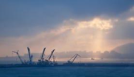 Свет над городом Стоковая Фотография