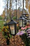 Свет на кладбище стоковое фото rf