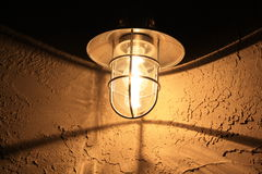 Свет на штукатурке Стоковое фото RF