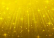Свет нерезкости золота с сияющее звёздным Стоковое Фото