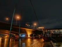 Свет ночи Бангкока стоковая фотография rf