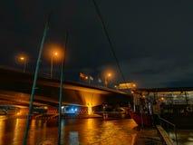 Свет ночи Бангкока стоковые фото