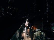Свет ночи дороги стоковая фотография