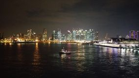 Свет ночи Сингапура Стоковая Фотография RF