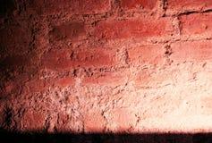Светлое пятно на кирпичной стене Стоковые Фото