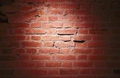 Светлое пятно на кирпичной стене Стоковые Изображения RF