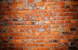 Светлое пятно на стене красных кирпичей Стоковое фото RF