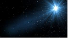 Свет пирофакела объектива над черной предпосылкой Легкий для того чтобы добавить верхний слой или s Стоковая Фотография RF