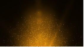 Свет пирофакела объектива над черной предпосылкой Легкий для того чтобы добавить верхний слой или s Стоковое Изображение
