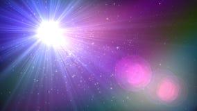 Свет пирофакела объектива над черной предпосылкой Легкий для того чтобы добавить верхний слой или s Стоковое Фото